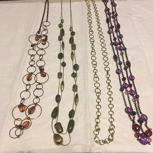 Jewelry - Variety of long costume necklaces